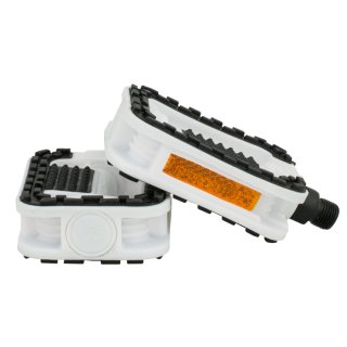 Plastic Standard Pedals - 2 Components White